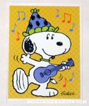 Snoopy dancing Birthday Greeting Card