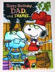 Snoopy grilling 'Father' Birthday Greeting Card