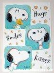 Snoopy & Woodstock Hugs, Smiles, Kisses Greeting Card