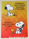 Snoopy & Woodstock Encouragement Greeting Card