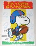 Football Snoopy 'Grandson' Greeting Card