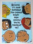 Peanuts Gang Birthday Greeting Card