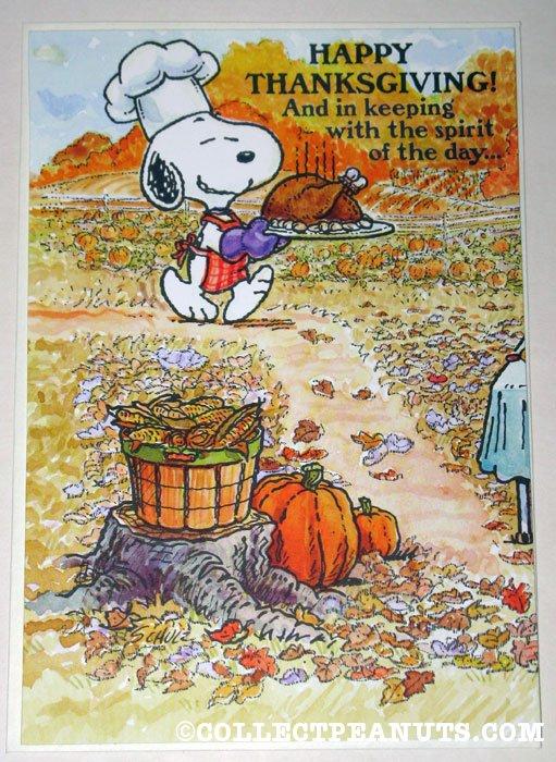 Peanuts Fall Wallpaper Peanuts Thanksgiving Cards Collectpeanuts Com
