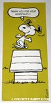 Snoopy Dancing Thank You Card