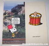 Snoopy 'Roll on the Drum' Birthday Greeting Card