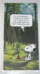 Snoopy and Woodstock beside fire Birthday Greeting Card