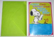 Snoopy and Woodstock checklist Birthday Greeting Card