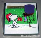 Snoopy giving gift Christmas Cards