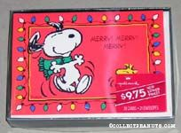 Snoopy and Woodstock Dancing Christmas Cards