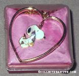 Snoopy holding phone charm with heart Necklace