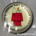 Snoopy on doghouse 'Dog Days of Summer' Saint Paul tribute Pin