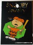 Charlie Brown talking with baseball bat Pin