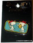 Snoopy playing baseball Pin