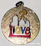 Snoopy & Woodstock on 'Love' Pendant