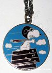 Snoopy Flying Ace on doghouse Pendant