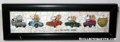 Snoopy & Charlie Brown in cars from 5 decades Collector Pin Set