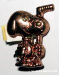 Snoopy Hockey player gold tone Pin