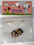 Snoopy wearing hat gold-tone Pin