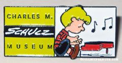 Schroeder at Piano Charles M. Schulz Museum Pin