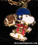 Snoopy throwing football Necklace