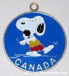 Snoopy shotput 'Canada' Pendant