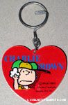 Charlie Brown sweating Red Heart Keychain