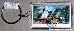 Snoopy riding Stagecoach Photo Keychain