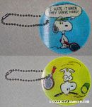 Snoopy playing Tennis Flasher Keychain