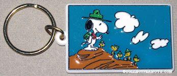 Beaglescout Snoopy & Woodstocks Hiking Keychain