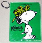 Snoopy wearing hat Green Pouch Keychain
