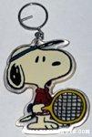 Tennis player Snoopy Keychain