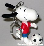 Snoopy Soccer Player Keychain