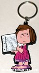 Peppermint Patty holding paper Keychain
