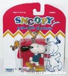 Snoopy Rollerskating Keychain