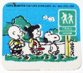 Charlie Brown, Violet and Snoopy Trail Sign Patch