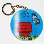 Snoopy Flying Ace on Doghouse Movees Keychain