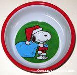 Santa Snoopy with sack Melamine Bowl