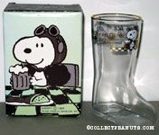 Snoopy Flying Ace 'Rootbeer - My Drink of Preference' Beer Boot Glass