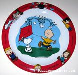 Charlie Brown flying Kite Melamine Plate