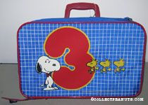 Snoopy & Woodstocks with number 3 Suitcase