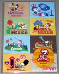 Snoopy Around the World Magnet Sheet