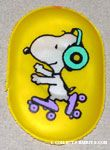 Snoopy roller skating with headphones Magnet