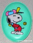 Snoopy at bat in baseball uniform Magnet