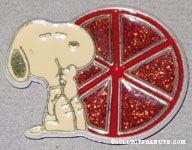 Snoopy with Orange slice Magnet
