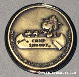 Camp Snoopy Logo Bronze Magnet