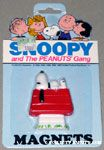 Snoopy on Doghouse Magnet