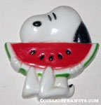 Snoopy with watermelon Magnet