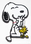 Snoopy laughing with Woodstock Magnet