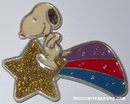 Snoopy riding on shooting Star Magnet