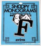 Snoopy with letter F Plastic Monogram